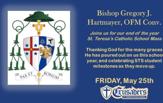 Move UP final school mass with Bishop Hartmayer